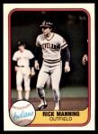 1981 Fleer #403  Rick Manning  Front Thumbnail