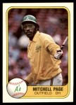 1981 Fleer #580  Mitchell Page  Front Thumbnail