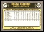 1981 Fleer #477  Bruce Robbins  Back Thumbnail