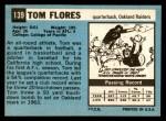 1964 Topps #139  Tom Flores  Back Thumbnail