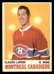 1970 O-Pee-Chee #56  Claude Larose  Front Thumbnail