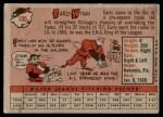 1958 Topps #100 WT Early Wynn  Back Thumbnail