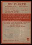 1965 Philadelphia #10  Jim Parker  Back Thumbnail