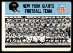 1966 Philadelphia #118   Giants Team Front Thumbnail