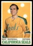1970 O-Pee-Chee #188  Bert Marshall  Front Thumbnail