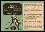 1970 O-Pee-Chee #179  Marc Tardif  Back Thumbnail