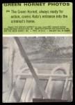 1966 Donruss Green Hornet #24   Green Hornet covers for Kato Back Thumbnail