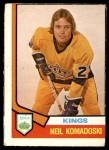 1974 O-Pee-Chee NHL #358  Neil Komadoski  Front Thumbnail