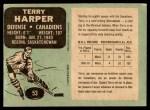 1970 O-Pee-Chee #53  Terry Harper  Back Thumbnail