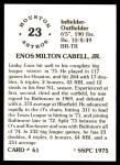 1976 SSPC #61  Enos Cabell  Back Thumbnail
