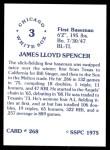 1976 SSPC #268  Jim Spencer  Back Thumbnail