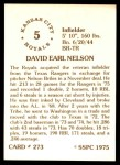 1976 SSPC #273  Dave Nelson  Back Thumbnail
