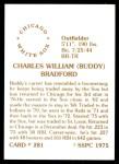 1976 SSPC #281  Buddy Bradford  Back Thumbnail