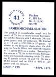 1976 SSPC #229  Jim Slaton  Back Thumbnail