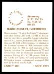 1976 SSPC #285  Mario Guerrero  Back Thumbnail
