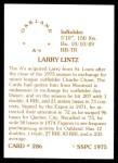 1976 SSPC #286  Larry Lintz  Back Thumbnail