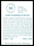 1976 SSPC #630  Jim Reese  Back Thumbnail
