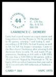 1976 SSPC #564  Larry Demery  Back Thumbnail