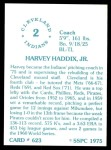 1976 SSPC #623  Harvey Haddix  Back Thumbnail