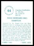1976 SSPC #601  Ike Hampton  Back Thumbnail