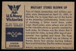 1954 Bowman U.S. Navy Victories #39   Military Stores Blown Up Back Thumbnail
