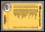 1981 Fleer #654 COR  Brewers Checklist Back Thumbnail