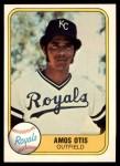 1981 Fleer #32 POR Amos Otis  Front Thumbnail