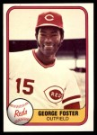 1981 Fleer #216 OUT George Foster  Front Thumbnail