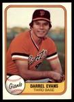 1981 Fleer #436 ERR Darrel Evans  Front Thumbnail