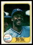 1981 Fleer #653 COR Willie Wilson  Front Thumbnail