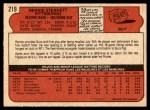 1972 O-Pee-Chee #219  Rennie Stennett  Back Thumbnail