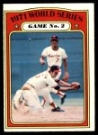 1972 O-Pee-Chee #224   -  Davey Johnson / Mark Belanger 1971 World Series - Game #2 Front Thumbnail
