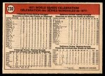 1972 O-Pee-Chee #230  Manny Sanguillen / Luke Walker / Gene Clines 1971 World Series Summary - Celebration Back Thumbnail