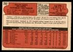 1972 O-Pee-Chee #260  Ralph Garr  Back Thumbnail