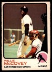 1973 O-Pee-Chee #410  Willie McCovey  Front Thumbnail