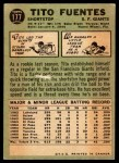 1967 O-Pee-Chee #177  Tito Fuentes  Back Thumbnail