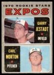 1970 O-Pee-Chee #109   -  Carl Morton / Garry Jestadt Expos Rookies Front Thumbnail
