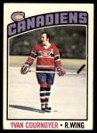 1976 O-Pee-Chee NHL #30  Yvan Cournoyer  Front Thumbnail