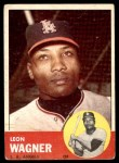 1963 Topps #335  Leon Wagner  Front Thumbnail