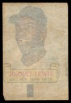 1966 Topps Rub Offs  Johnny Lewis  Back Thumbnail