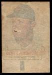 1966 Topps Rub Offs   Don Landrum   Back Thumbnail