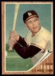 1962 Topps #176 BAT Eddie Yost  Front Thumbnail