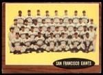 1962 Topps #226   Giants Team Front Thumbnail