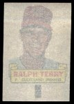 1966 Topps Rub Offs   Ralph Terry   Back Thumbnail