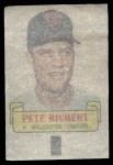 1966 Topps Rub Offs   Pete Richert   Back Thumbnail