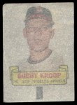 1966 Topps Rub Offs  Bobby Knoop  Back Thumbnail