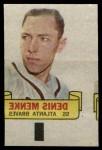 1966 Topps Rub Offs   Denis Menke   Front Thumbnail