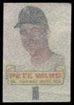 1966 Topps Rub Offs   Pete Ward   Back Thumbnail