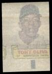 1966 Topps Rub Offs   Tony Oliva   Back Thumbnail