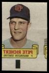 1966 Topps Rub Offs   Pete Richert   Front Thumbnail